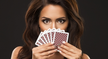 Card Player Girl